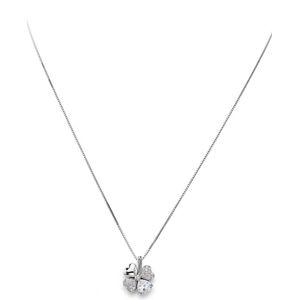 Amen Originální stříbrný náhrdelník se zirkony Love CLPQUBB