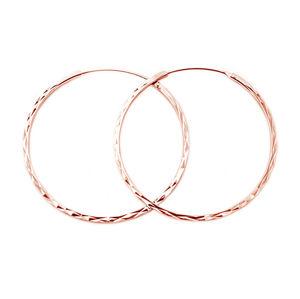 Beneto Módní pozlacené kruhové náušnice ze stříbra AGUC2439/SCS-ROSE 3 cm