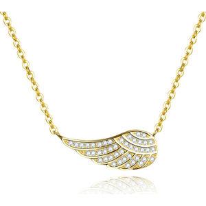 Beneto Pozlacený náhrdelník s křídlem AGS298/47-GOLD