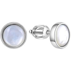 Beneto Stříbrné náušnice s perletí AGUP1651S