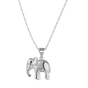 Beneto Stříbrný náhrdelník se slonem AGS1136/47