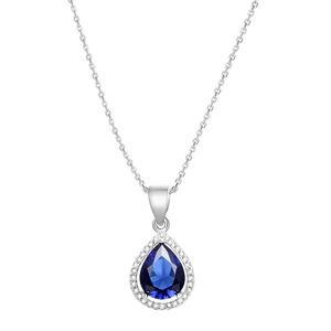 Beneto Stříbrný náhrdelník se zirkony AGS1140/47