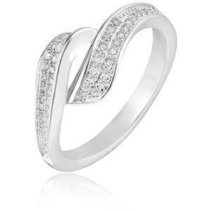 Beneto Stříbrný prsten s krystaly AGG209 60 mm