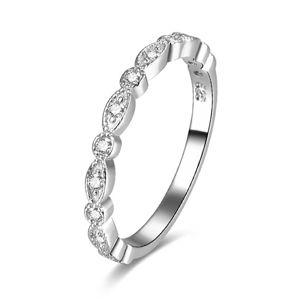 Beneto Stříbrný prsten se zirkony AGG167 50 mm