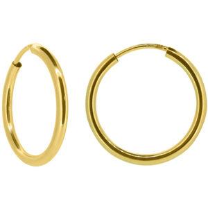 Brilio Dámské náušnice kruhy ze žlutého zlata P005.750112005.75 4 cm