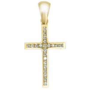 Brilio Přívěsek křížek ze žlutého zlata CSR024_AU_Y