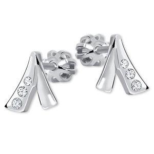 Brilio Silver Decentní náušnice s krystaly 436 001 00187 04