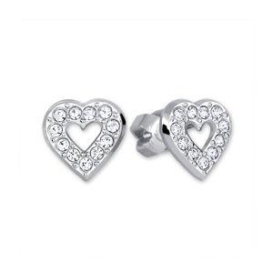 Brilio Silver Stříbrné náušnice Srdce 438 001 00614 04