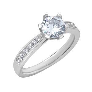 Brilio Silver Stříbrný zásnubní prsten 426 158 00081 ND 58 mm