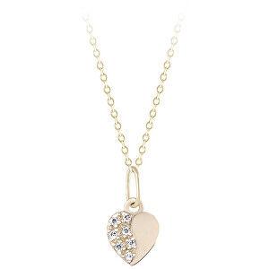 Brilio Zlatý přívěsek Srdce s krystaly 249 001 00537 00