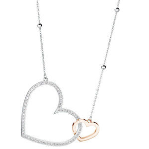 Brosway Ocelový bicolor náhrdelník se srdíčky Minuetto BMU01