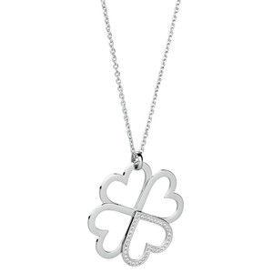 Brosway Ocelový náhrdelník se čtyřlístkem C-lover BOV01
