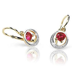 Cutie Jewellery Dětské náušnice C1997-10-X-1 červená