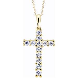 Cutie Jewellery Moderní přívěsek křížek Z60100-40-10-X-1