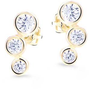 Cutie Jewellery Půvabné zlaté náušnice s třpytivými zirkony Z8030-30-X-1 bílá