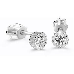 Cutie Jewellery Třpytivé náušnice Z60236-30-X-2 bílá