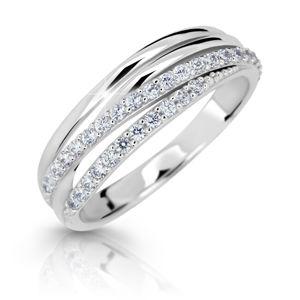 Cutie Jewellery Třpytivý prsten z bílého zlata Z6716-3352-10-X-2 64 mm