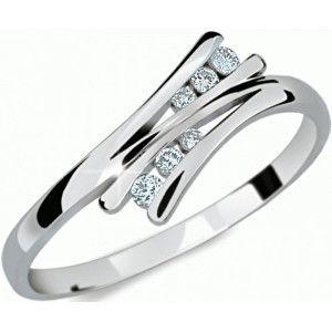 Danfil Krásný prsten s diamanty DF1950b 50 mm
