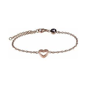 Emily Westwood Romantický ocelový náramek se srdcem WB1004R