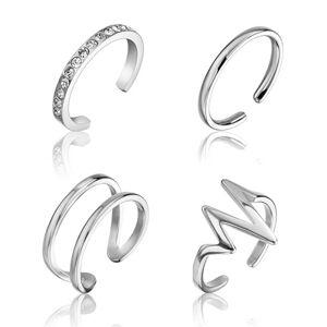 Emily Westwood Sada minimalistických ocelových prstenu WS049S