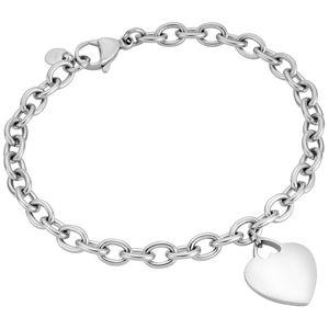 Esprit Elegantní stříbrný náramek se srdíčkem ESBR01512120