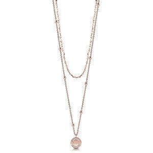 Guess Krásný bronzový náhrdelník s krystaly UBN28033