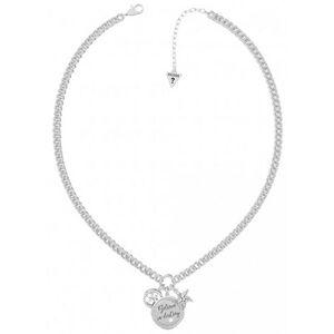 Guess Módní ocelový náhrdelník se třemi přívěsky UBN70044