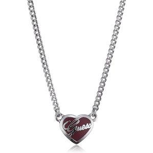 Guess Náhrdelník červené srdce UBN81036