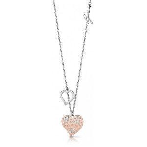 Guess Stylový náhrdelník se srdíčky UBN78067