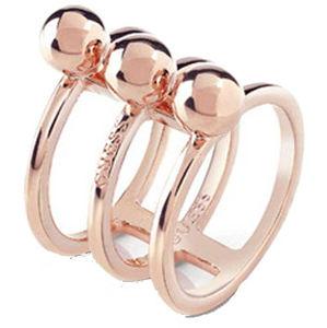 Guess Trojitý bronzový prsten UBR85017 56 mm