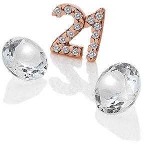 """Hot Diamonds Element """"21"""" se zirkony a topazy EX211"""