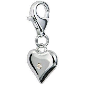 Hot Diamonds Přívěsek srdce s diamantem Love Luck Happiness DT012