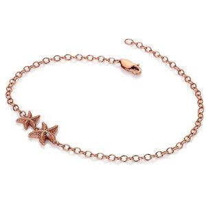 Hot Diamonds Růžově zlacený náramek s pravým diamantem Daisy RG DL588
