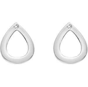 Hot Diamonds Stříbrné kapkové náušnice s pravými diamanty Amulets DE615