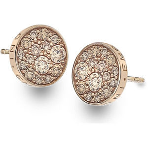 Hot Diamonds Stříbrné náušnice Hot Diamonds Emozioni Scintilla Champagne Rose DE455