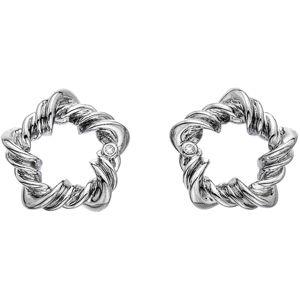 Hot Diamonds Stříbrné náušnice s diamanty Vine DE619