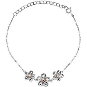 Hot Diamonds Stříbrný náramek s květy Forget me not DL596