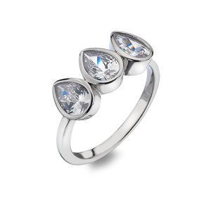 Hot Diamonds Třpytivý prsten Emozioni Acqua Amore ER026 53 mm