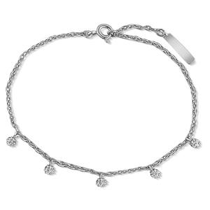 JVD Jemný stříbrný náramek s čirými zirkony SVLB0363XH2BI17