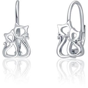 JVD Krásné stříbrné náušnice Kočičky SVLE0777XF60000