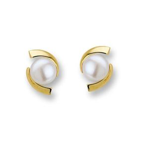 JVD Luxusní pozlacené náušnice s perlami SVLE0641XH2PG00