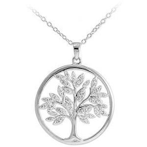 JVD Nadčasový stříbrný přívěsek se zirkony Strom života SVLP0599XH2BI00