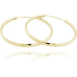 JVD Pozlacené stříbrné náušnice kruhy SVLE0209XD5GO 4 cm
