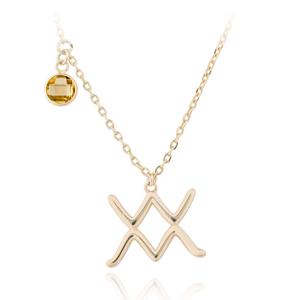 JVD Pozlacený náhrdelník s přívěskem Vodnář SVLN0135X61GOVO