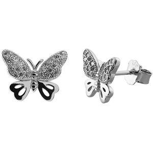 JVD Stříbrné náušnice motýlci SVLE0481XF3BI00