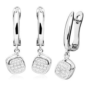 JVD Stříbrné náušnice s čirými zirkony SVLE0307SH8BI00