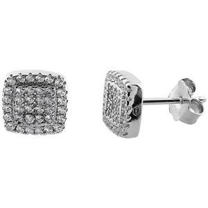 JVD Stříbrné třpytivé náušnice pecky SVLE0483XF3BI00