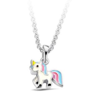 JVD Stříbrný náhrdelník Jednorožec SVLN0392SH2BA38