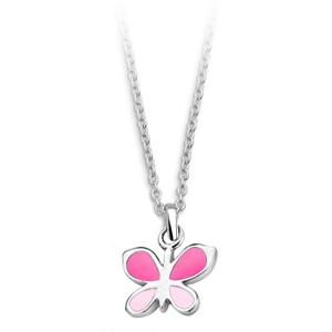 JVD Stříbrný náhrdelník Motýl SVLN0395SH2MO38
