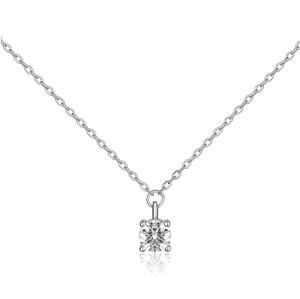 JVD Stříbrný náhrdelník s čirým zirkonem SVLN0365SH2BI42